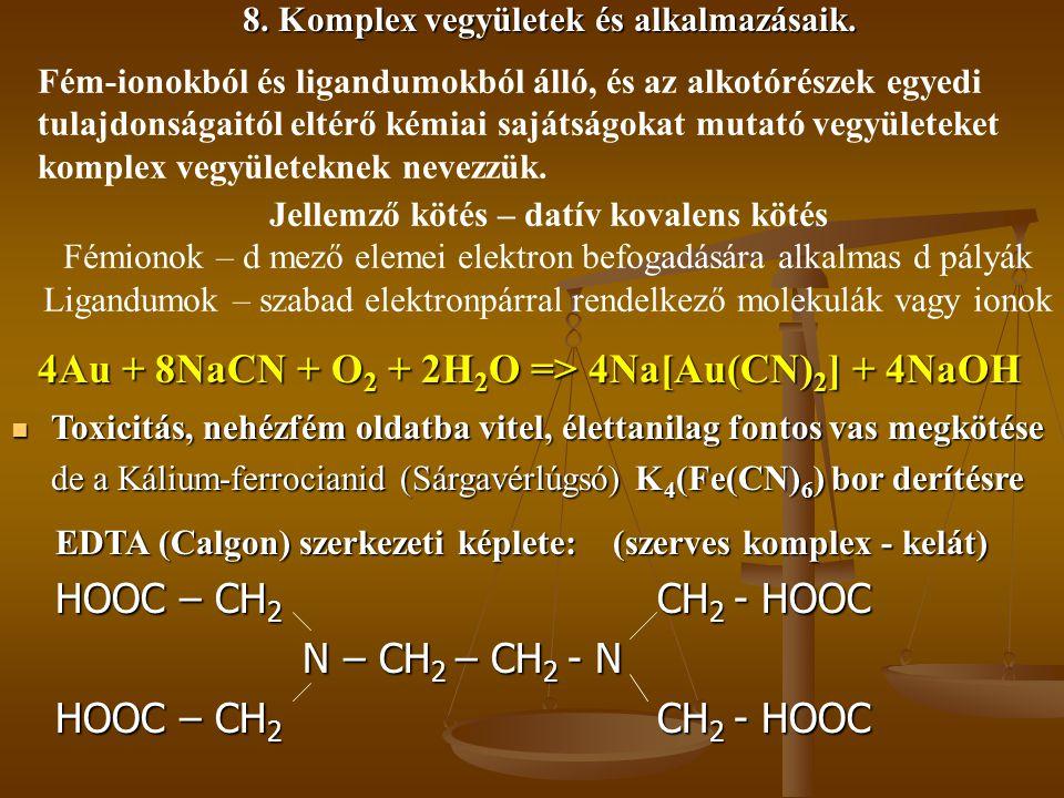 4Au + 8NaCN + O2 + 2H2O => 4Na[Au(CN)2] + 4NaOH
